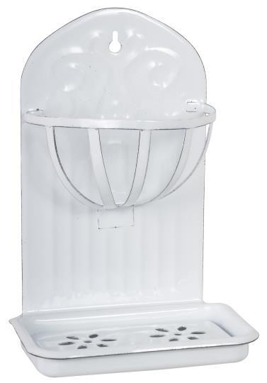 Porta sapone con cestello da appendere – Bianco
