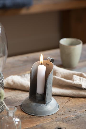 Porta candele in metallo con manico