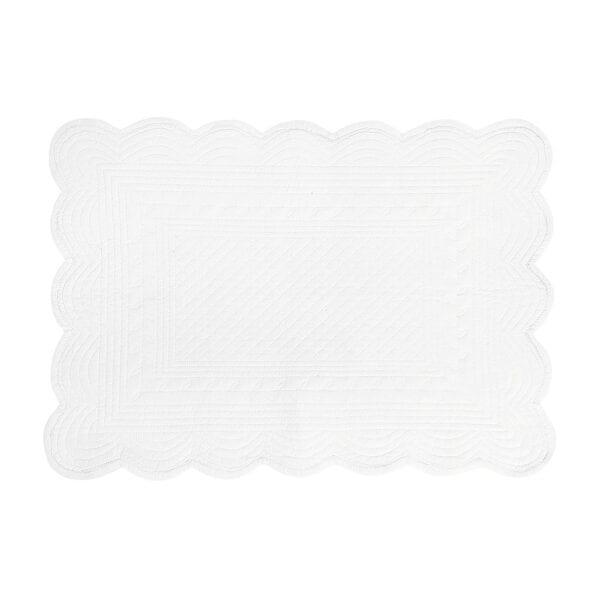 Tovaglietta bianca imbottita in cotone – Boutis