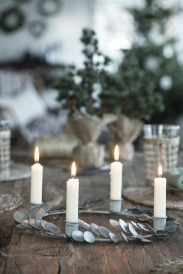 Set 6 candele corte – Rosso