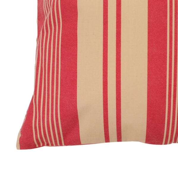 Cuscino in cotone rosso e beige