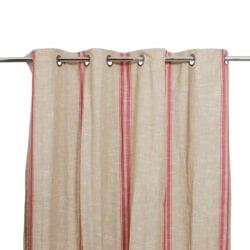 Tenda in cotone – Rosso e beige