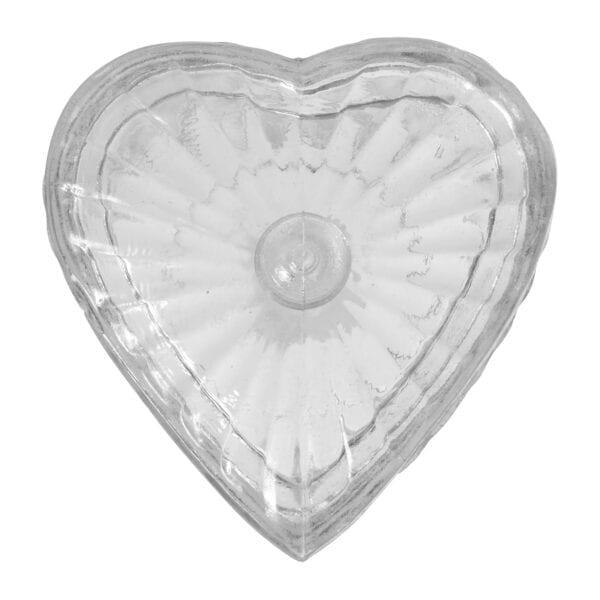 Recipiente a forma di cuore in vetro
