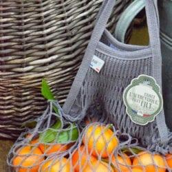 Borsa per spesa in cotone – Arancio Azteco