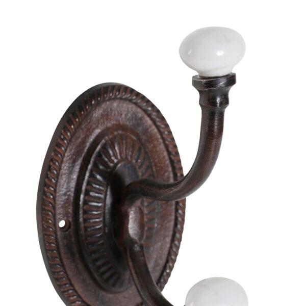 Appendiabiti ovale con 2 ganci in alluminio