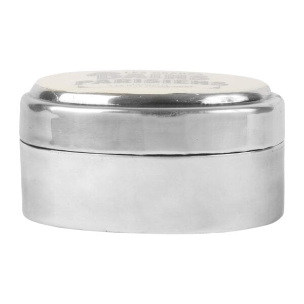 Scatola ovale da bagno con scritta