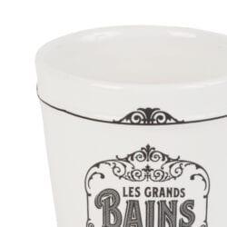 Bicchiere da bagno con scritta