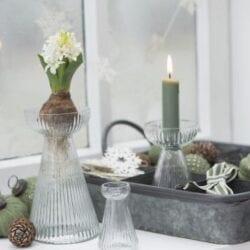 Set 6 candele corte – Verde scuro