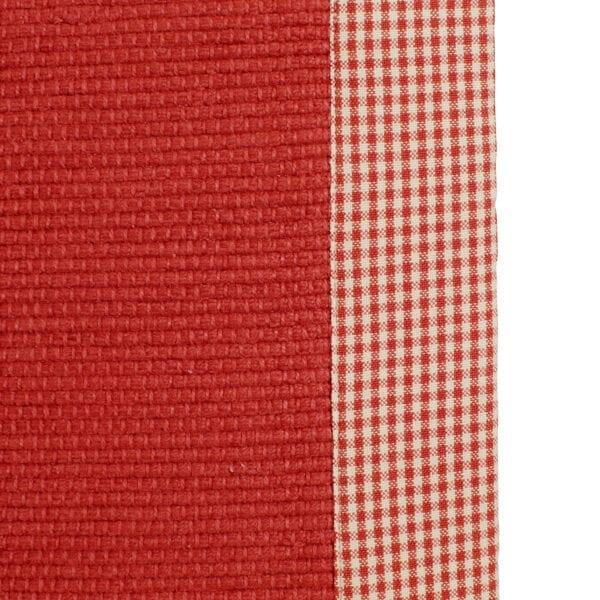 Tappetto da cucina con quadretti – Rosso