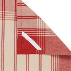 Canovaccio in cotone – Rosso a righe