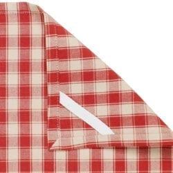Canovaccio in cotone – Rosso quadretti medi