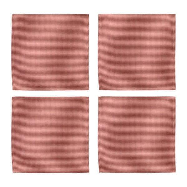 Set 4 Tovaglioli di cotone – Rossi