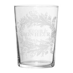 """Bicchiere vetro """"Amour-Bonheur"""" – Collezione Coté Table"""