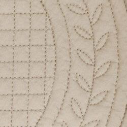 Tovaglietta beige imbottita in cotone – Boutis