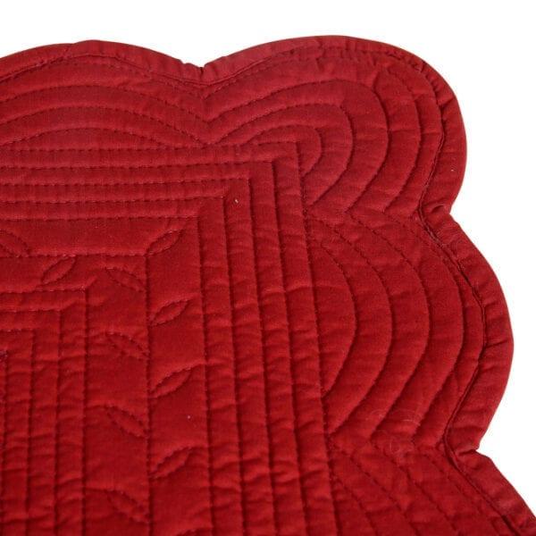 Tovaglietta Rossa imbottita in cotone – Boutis
