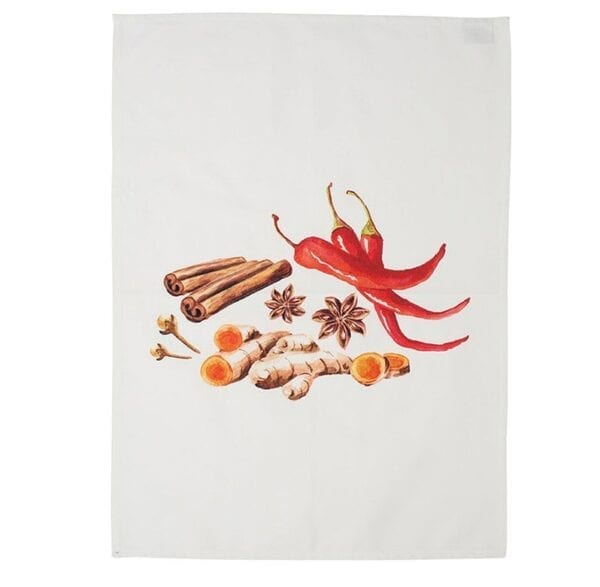 Canovaccio da cucina in cotone – Cannella