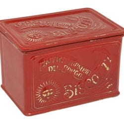 Scatola biscotti in ceramica – Rosso