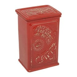 Scatola caffé in ceramica – Rosso