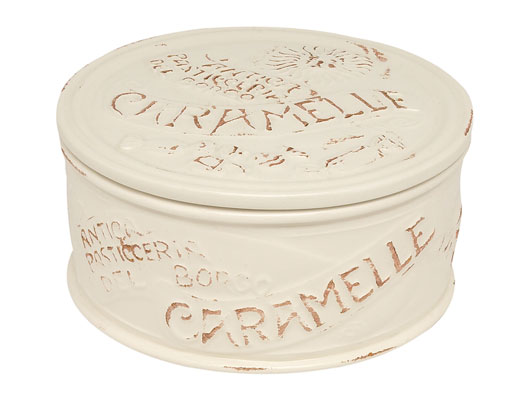 Scatola caramelle in ceramica – Bianco