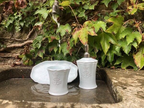 Bicchiere da bagno in ceramica – Turchese