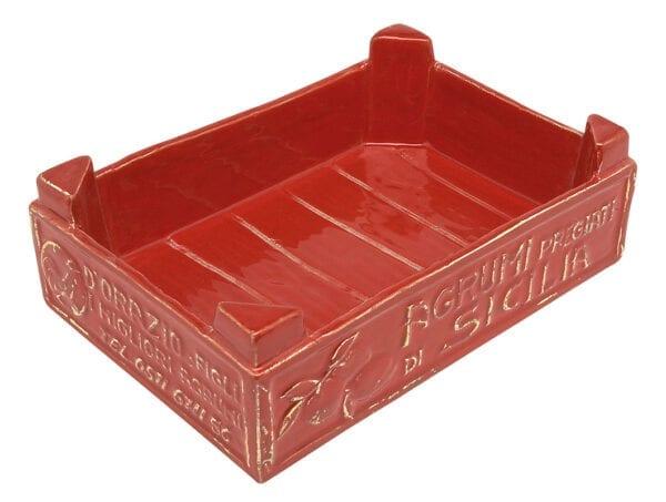 Cassetta frutta piccola in ceramica – Rosso