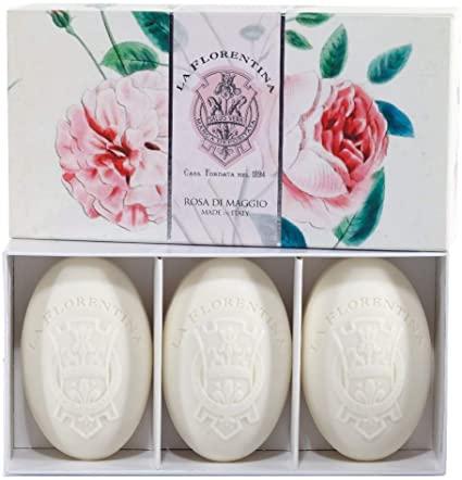Cofanetto con 3 saponette – Rosa di Maggio
