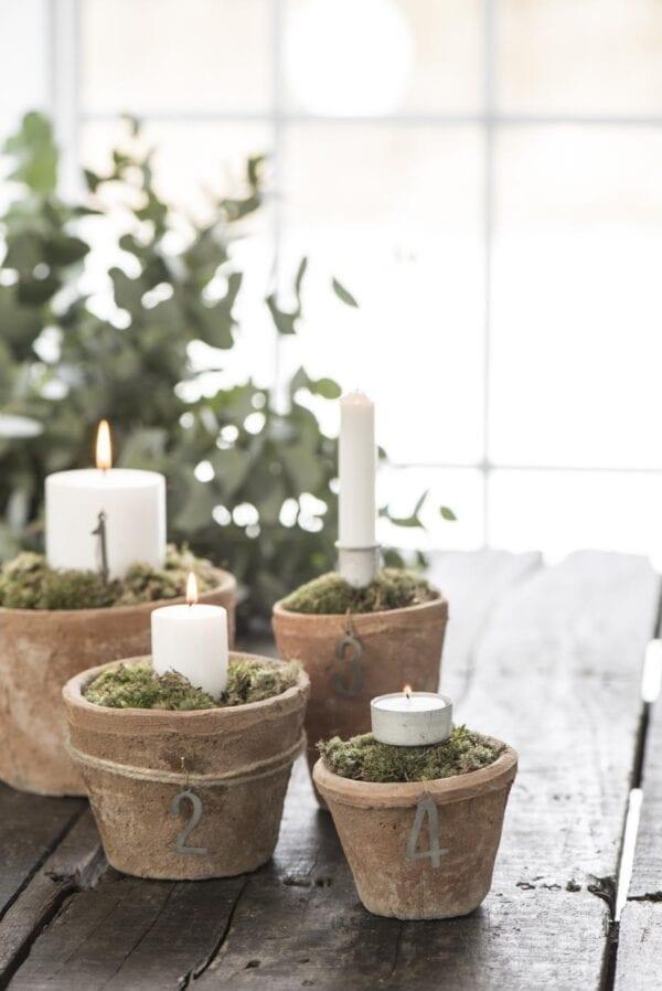 Set 6 candele corte – Beige