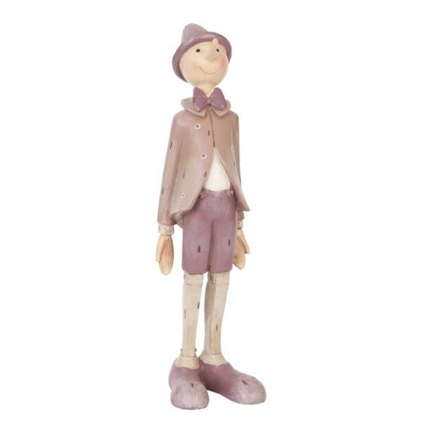 Pinocchio rosa in poliresina