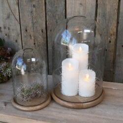 Campana in vetro lavorato con lucidatura