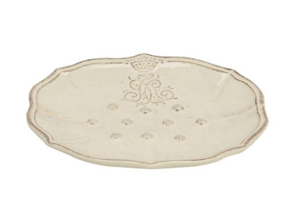 Portasapone in ceramica – Bianco latte