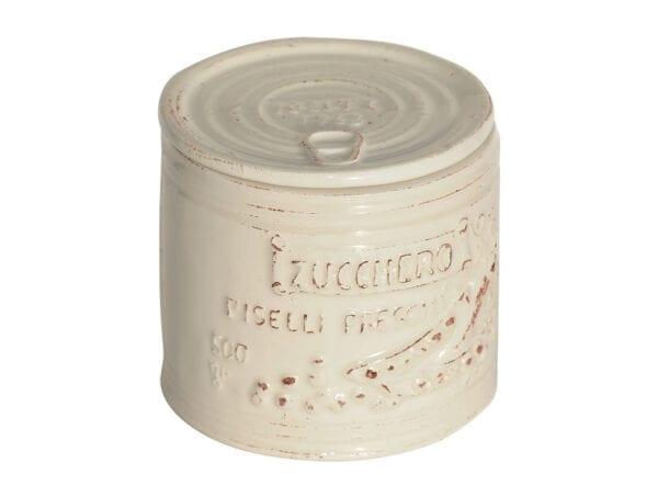 Barattolo per Zucchero in ceramica – Bianco