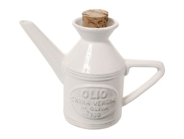 Ampolla Olio in ceramica – Bianco