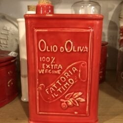 Lattina per Olio in ceramica – Rossa