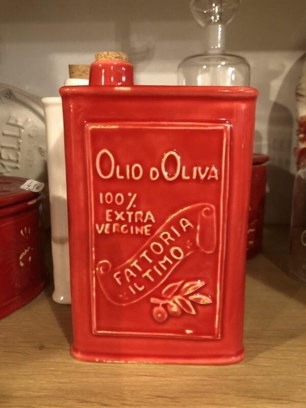 Lattina per Olio in ceramica – Rossa