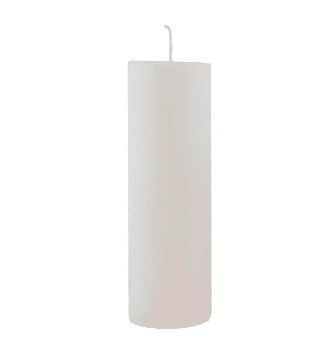 Candela pilastro Extra large – Bianco