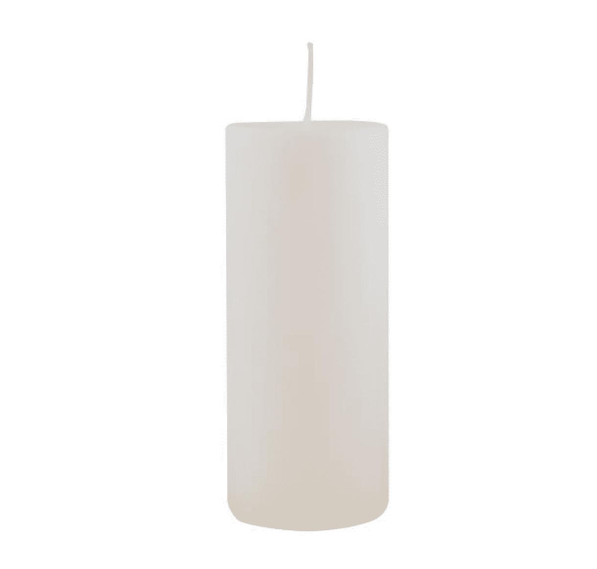 Candela pilastro grande – Bianco