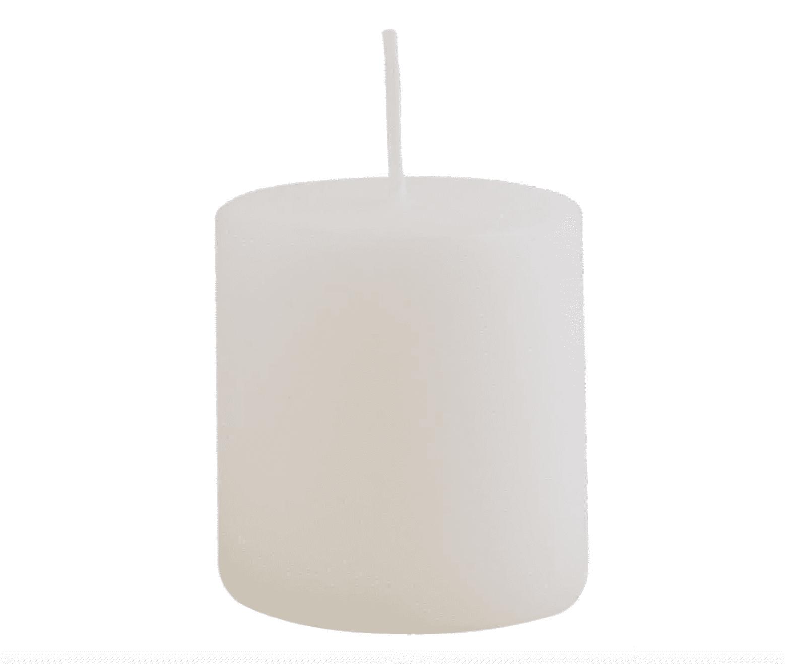 Candela pilastro piccola – Bianca