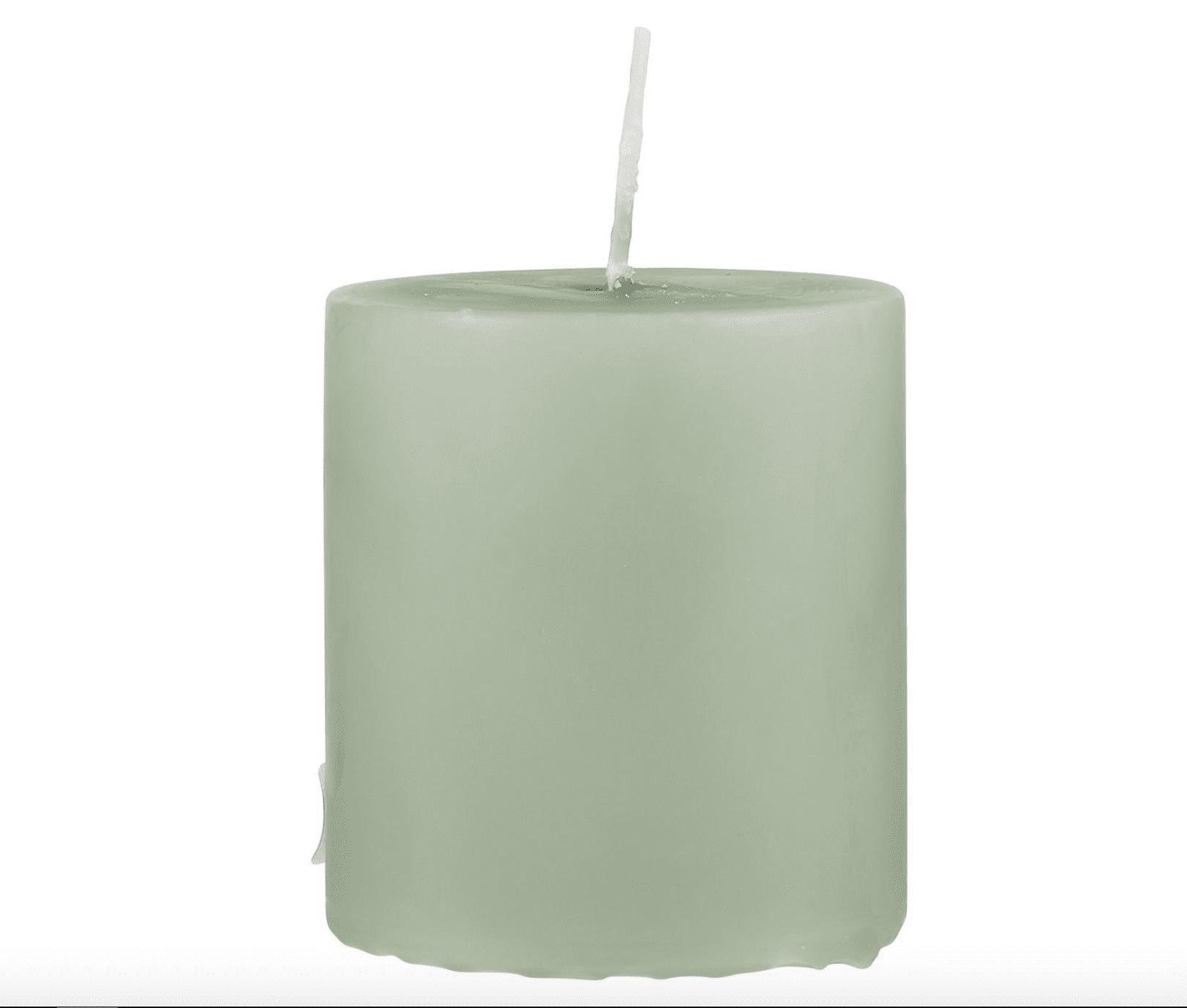 Candela pilastro piccola – Verde antico