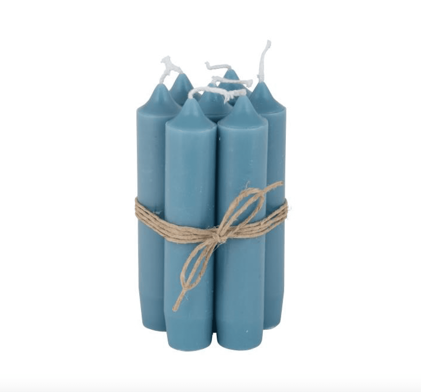 Set 6 candele corte – Blu petrolio