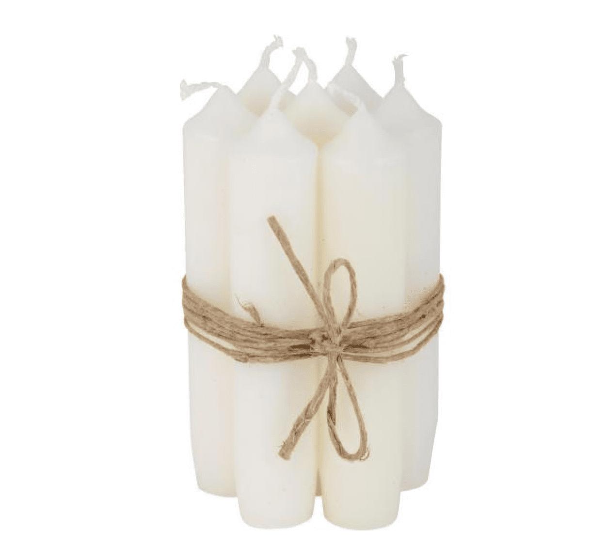 Set 6 candele corte – Bianco