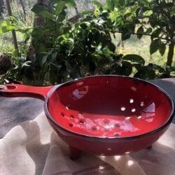 Colino in ceramica smaltato – Rosso
