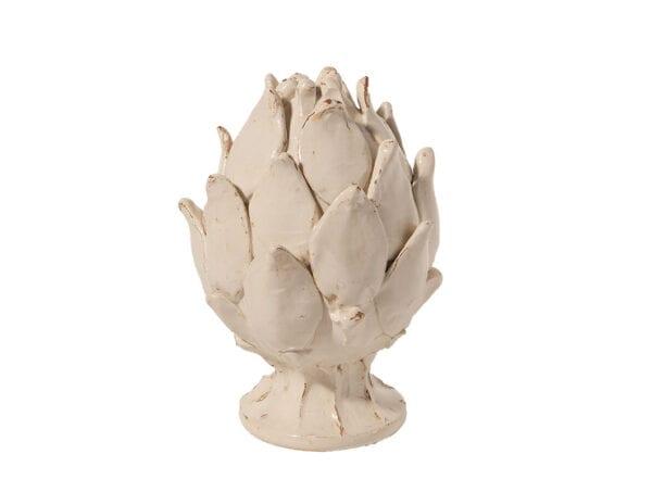 Carciofo piccolo in ceramica- Bianco