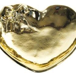 Piattino a forma di cuore in ceramica – Dorato