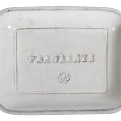 Porta sapone in ceramica – Bianco