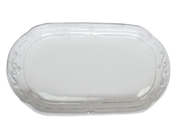Vassoietto ovale in ceramica – Bianco