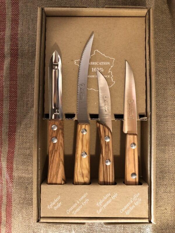Set 4 Coltelli in legno di Olivo