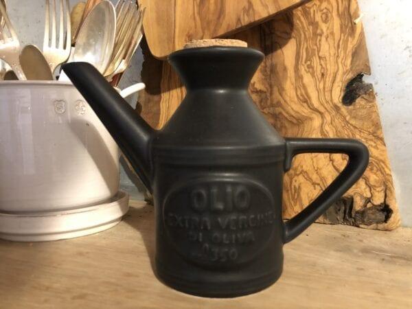 Ampolla Olio in ceramica – Carbone
