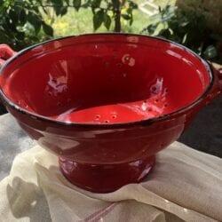 Colapasta in ceramica smaltato – Rosso