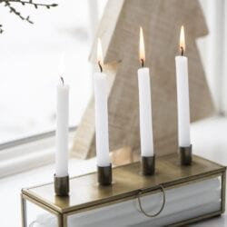 Porta candele e candelabro con cassetto – Dorato