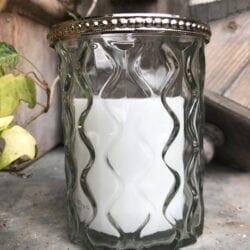Porta candele a sfera trasparente